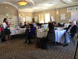 Discussing results-based leadership with the group