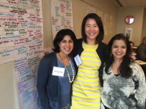 The ProInspire crew – Monisha (ProInspire), Christine Wang (Evelyn & Walter Haas Jr. Fund and ProInspire Alum), Pratichi Shah (Flourish Talent Management Solutions and ProInspire Board Member)